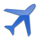 128x128px size png icon of Airport Blue 2