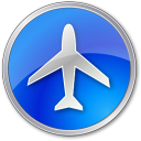 128x128px size png icon of Airport Blue