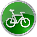 128x128px size png icon of Bicycle Green