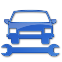 128x128px size png icon of Car Repair Blue 2