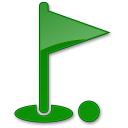 128x128px size png icon of Golf Club Green 2