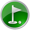 128x128px size png icon of Golf Club Green