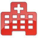 128x128px size png icon of Hospital Red 2
