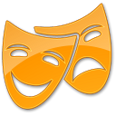128x128px size png icon of Theater Yellow 2