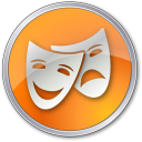 128x128px size png icon of Theater Yellow