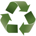 128x128px size png icon of recycle 2