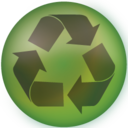 128x128px size png icon of recycle