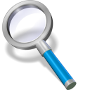 128x128px size png icon of search blue