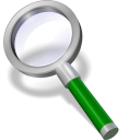 128x128px size png icon of search green dark