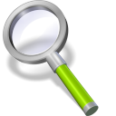 128x128px size png icon of search green neon