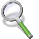 128x128px size png icon of search green