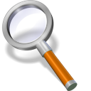 128x128px size png icon of search orange