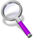 128x128px size png icon of search purple
