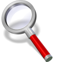 128x128px size png icon of search red