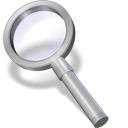 128x128px size png icon of search silver