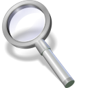 128x128px size png icon of search white
