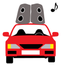 128x128px size png icon of Car Sound