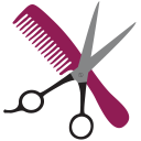 128x128px size png icon of Hairstyling