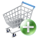 128x128px size png icon of shop cart add