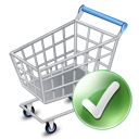 128x128px size png icon of shop cart apply