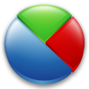 128x128px size png icon of statistics