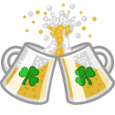 128x128px size png icon of beer clink cheers