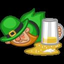 128x128px size png icon of leprechaun drunk