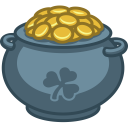 128x128px size png icon of pot of gold