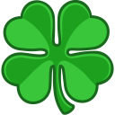 128x128px size png icon of shamrock lucky
