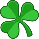 128x128px size png icon of shamrock