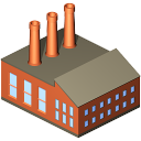 128x128px size png icon of Coal power plant