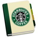 128x128px size png icon of StarbucksAddressBookV1 by chekkz