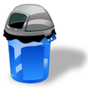 128x128px size png icon of Garbage can