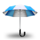 Umbrella Blue Icon
