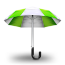 128x128px size png icon of Umbrella Green