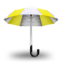 Umbrella Yellow Icon