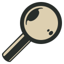 128x128px size png icon of Magnifier