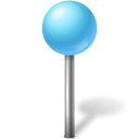 128x128px size png icon of Map Marker Ball Azure