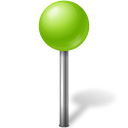 128x128px size png icon of Map Marker Ball Chartreuse