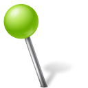 128x128px size png icon of Map Marker Ball Left Chartreuse
