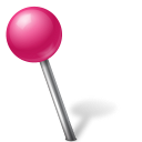 128x128px size png icon of Map Marker Ball Left Pink