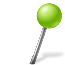 128x128px size png icon of Map Marker Ball Right Chartreuse