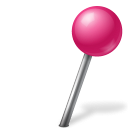 128x128px size png icon of Map Marker Ball Right Pink