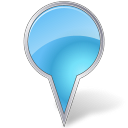 128x128px size png icon of Map Marker Bubble Azure