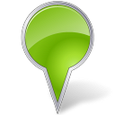 128x128px size png icon of Map Marker Bubble Chartreuse