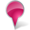 128x128px size png icon of Map Marker Bubble Pink
