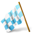 128x128px size png icon of Map Marker Chequered Flag Left Azure