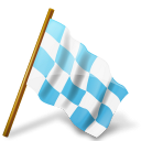 128x128px size png icon of Map Marker Chequered Flag Right Azure