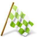 128x128px size png icon of Map Marker Chequered Flag Right Chartreuse