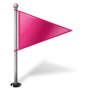 128x128px size png icon of Map Marker Flag 1 Right Pink